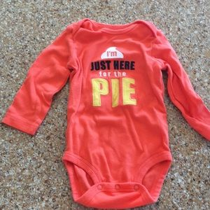 Carter's thanksgiving onesie